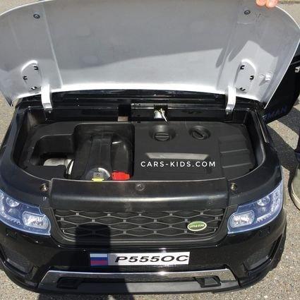Полноприводный электромобиль Happer Р555ОС 2х местный черный (усиленный аккумулятор, резиновые колеса, кожа, пульт, музыка, ГЛЯНЦЕВАЯ ПОКРАСКА)