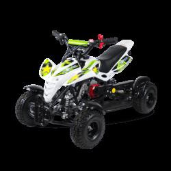 Детский квадроцикл бензиновый MOTAX ATV H4 mini-50 cc Бело- зеленый  (до 45 км/ч)